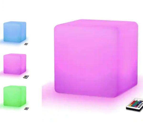 LED Glow Cube Stool